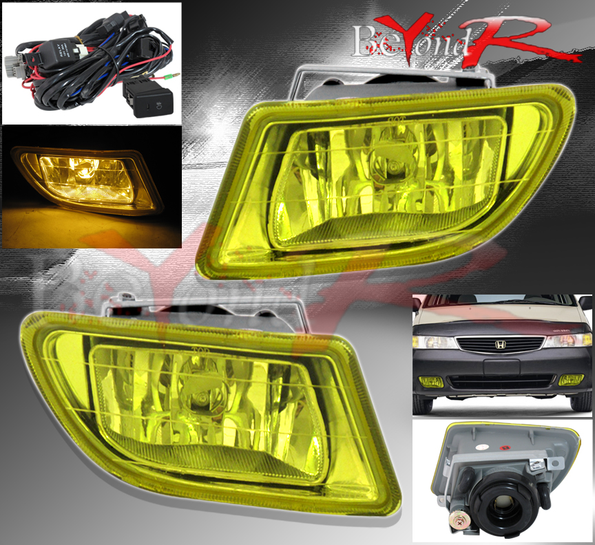 Diagram 99 04 Honda Odyssey Jdm Yellow Lens Front Fog Lights Lamps